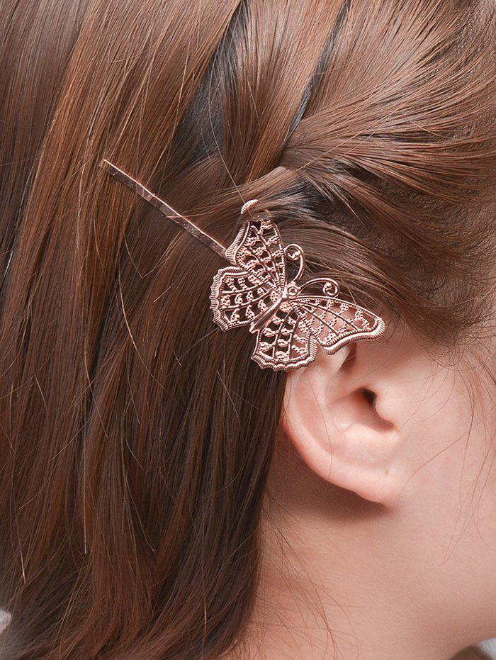Alloy Butterfly Hair AccessoryACCESSORIES<br><br>Color: ROSE GOLD; Headwear Type: Hairpins; Group: Adult; Gender: For Women; Style: Fashion; Pattern Type: Insect; Weight: 0.040kg; Package Contents: 1 x Hair Accessory;