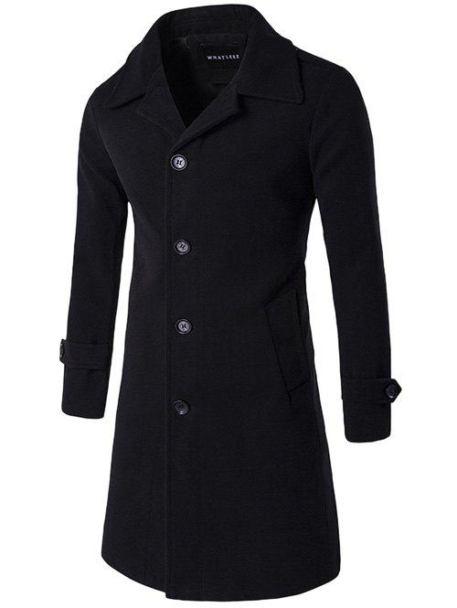New Single Breasted Wool Blend Wind Coat