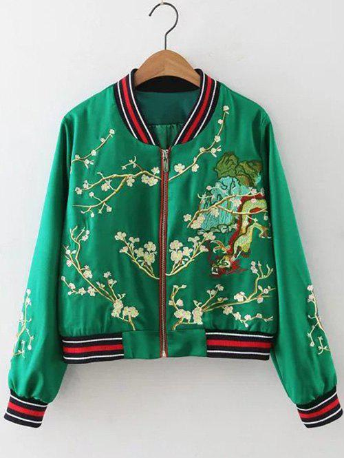 Online Floral Zip-Up Jacket