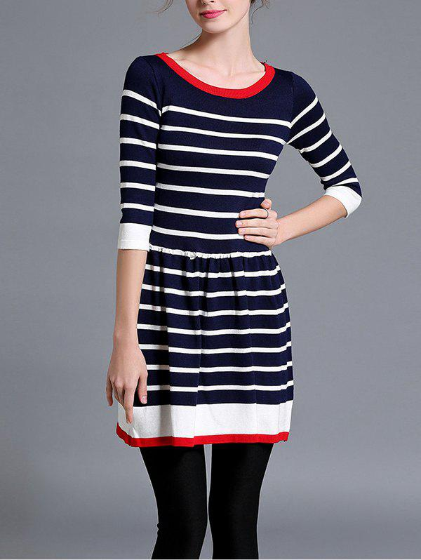 Shops Striped Knitted Flare Dress