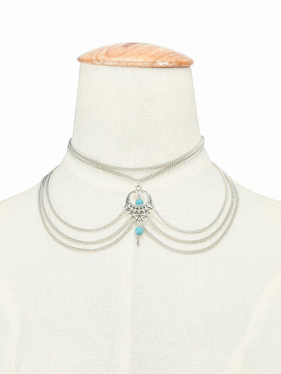 Online Bohemian Faux Turquoise Beads Necklace
