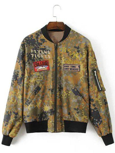 Best Letter Patched Camouflage Jacket