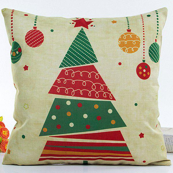 Colorful Christmas Tree Hot Sell Decorative Household Pillow CaseHOME<br><br>Color: COLORFUL; Material: Polyester / Cotton; Pattern: Printed; Style: Modern/Contemporary; Shape: Square; Size(CM): 45*45; Weight: 0.203kg; Package Contents: 1 x Pillow Case;