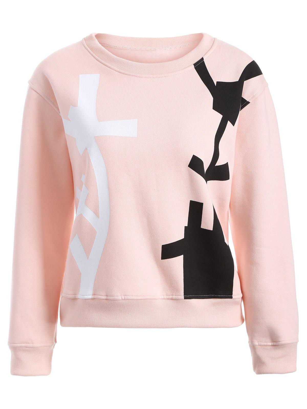 Trendy Drop Shoulder Abstract Pattern Sweatshirt