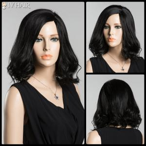 Medium Side Parting Tail Curly Siv Human Hair Wig