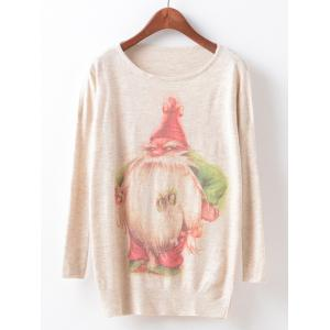 Christmas Loose Printed Sweater