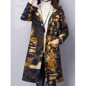 Tie Dyed Longline Hooded Coat