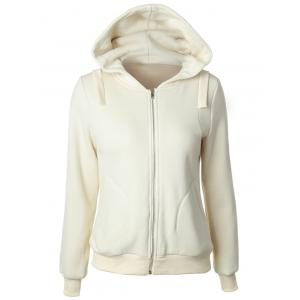 Casual Long Sleeve Pockets Zipper Up Hoodie