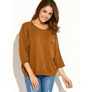 Pocket Knitted Pullover Sweater