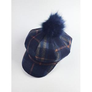 Retro Pom Ball Embellished Newsboy Hat