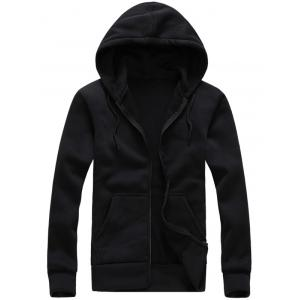 Hooded Zip-Up Long Sleeve Hoodie