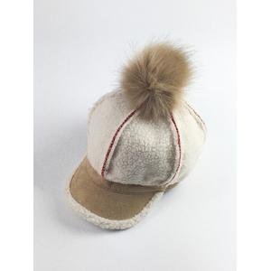 Retro Fleece Pom Ball Embellished Baseball Hat