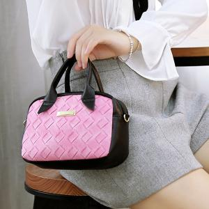 Metal Weaving PU Leather Handbag -