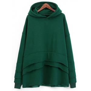 Fleece Layered Hoodie
