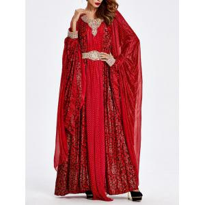 Beaded Muslim Loose Maxi Dress -