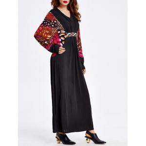 Bat Sleeve Muslim Loose Maxi Dress -
