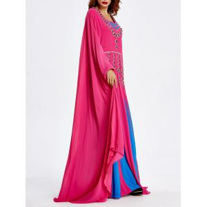 Beaded Bat Sleeve Muslim Loose Maxi Dress -