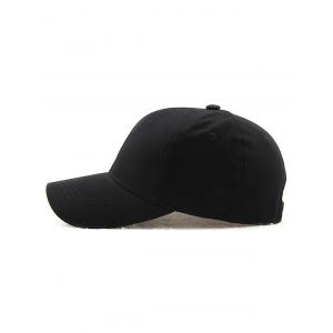 Hot Sale Outdoor Adjustable Pure Color Baseball Cap - BLACK