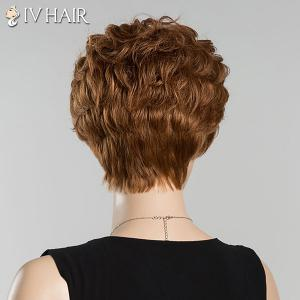 Short Bouncy Full Bang Curly Siv Human Hair Wig -