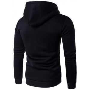 Hooded Chief Skull Printed Long Sleeve Hoodie -