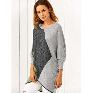 Batwing Sleeve Smock Pullover - COLORMIX M
