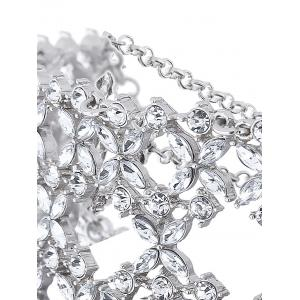Hollowed Tiered Rhinestone Wide Choker -