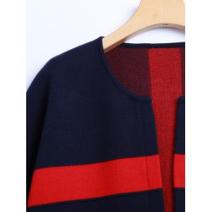 Color Block 3/4 Sleeve Cashmere Coat -