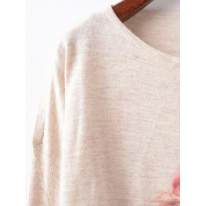 Christmas Loose Printed Sweater - OFF WHITE ONE SIZE