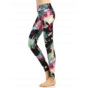 High Stretchy Multicolor Printed Leggings - COLORMIX XL