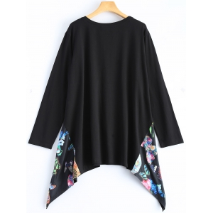 Asymmetric Loose Long T-Shirt -