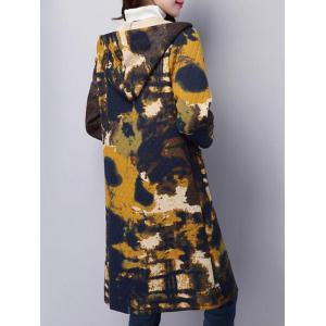 Tie Dyed Longline Hooded Coat - COLORMIX 2XL