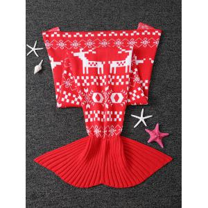 Christmas Jacquard Knitted Mermaid Tail Blanket -