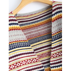 Geometric Double Pocket Cardigan -