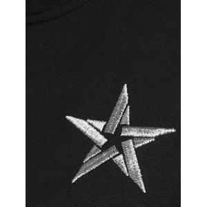 Plus Size Star Embroidered Short Sleeve Sweatshirt -