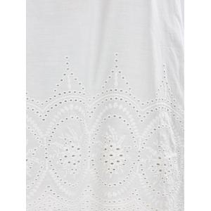 Openwork Embroidery Cut Out Mini Dress -