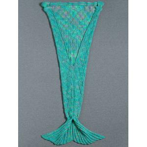 Flouncing Decor tricotée Mermaid Tail Blanket -