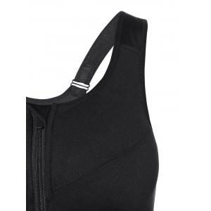 Cut Out Zipper Sports Bra -
