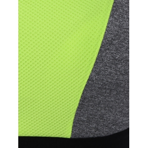 Color Block Zipper Sports Bra -