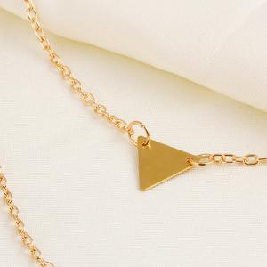 Alloy Triangle Layered Pendant Necklace -