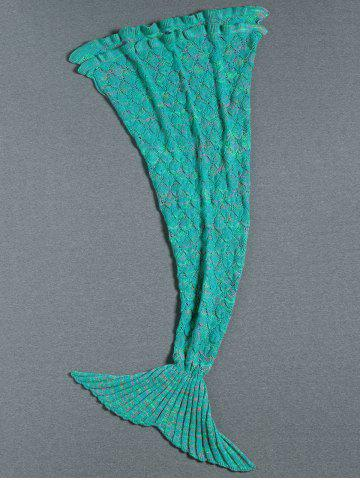 Flouncing Decor tricotée Mermaid Tail Blanket