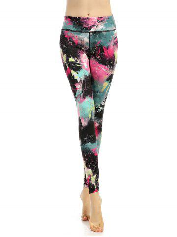 Fancy High Stretchy Multicolor Printed Leggings COLORMIX XL