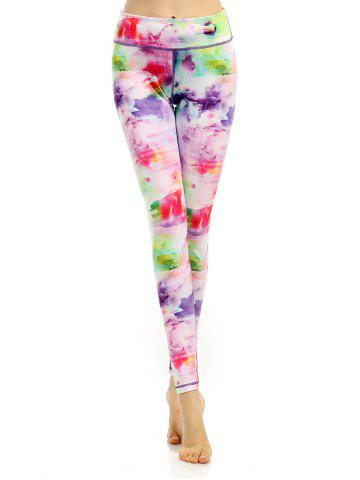 Store Breathable Stretchy Multicolor Printed Leggings COLORFUL L