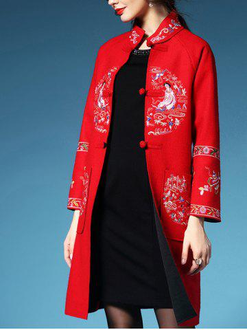 Latest Embroidered Walker Coat with Frog Button