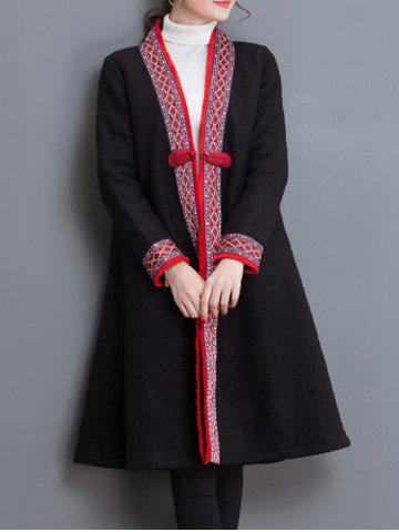 Shop Embroidery Trim Frog Button Coat