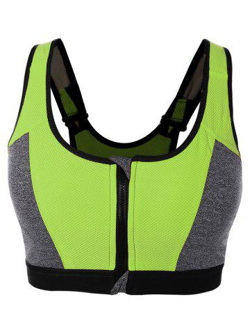 Shop Color Block Zipper Sports Bra