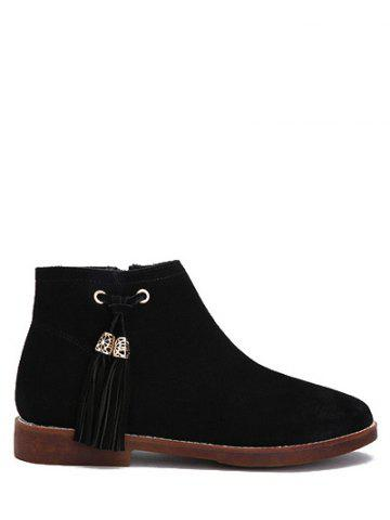 Latest Tassel Suede Flat Heel Ankle Boots