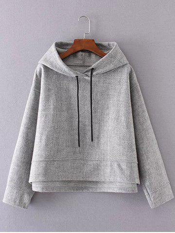 Chic Drawstring Long Sleeve Pullover Hoodie