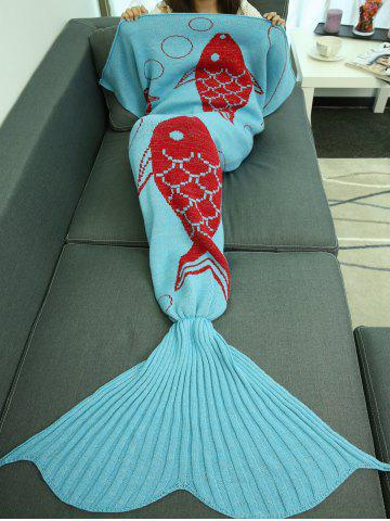Super Soft Sleeping Bag Bed Sofa Wrap Mermaid Blanket - LAKE BLUE