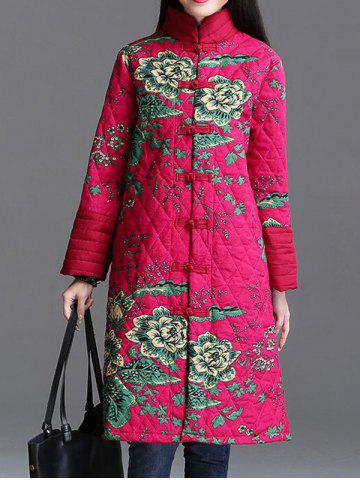 Best Stand Collar Printed Quilted Coat