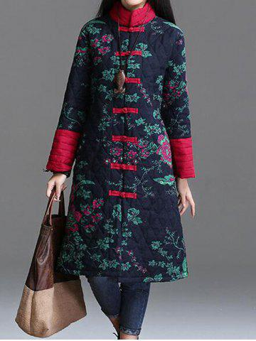 Affordable Printed Longline Quilted Coat
